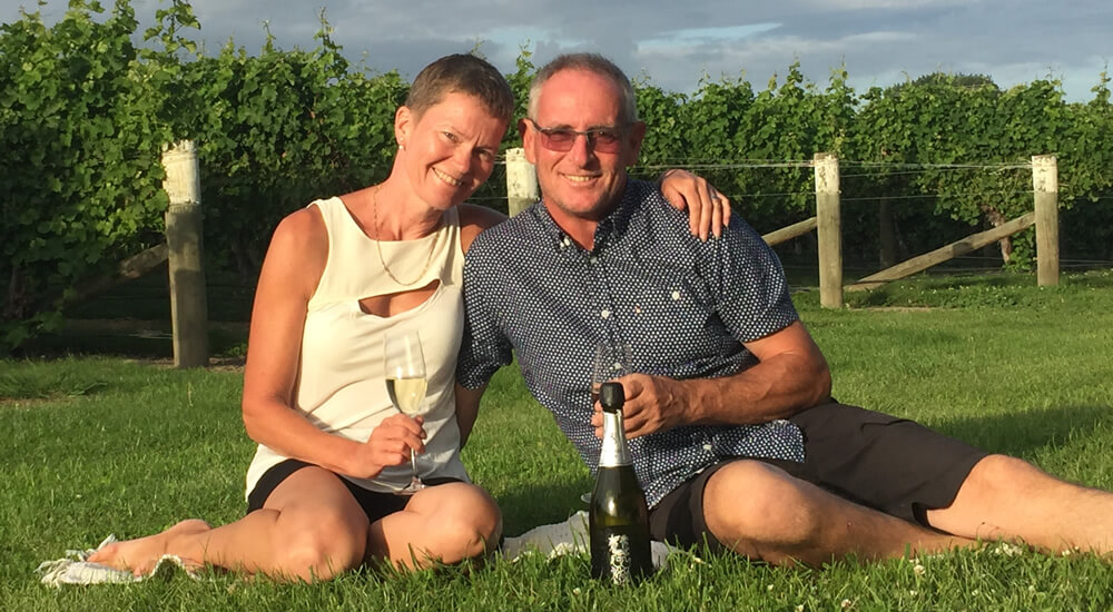 Your Hosts At Vau Vineyard Cottage In Blenheim Marlborough